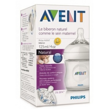 Philips Avent biberón, Natural 0m+,125 ml, SCF692/17 AZUL.