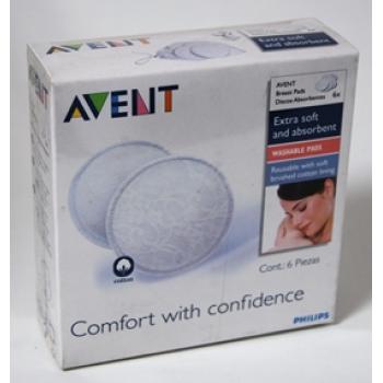 AVENT PHILIPS discos absorbentes lavables 6 un  SCF155/06