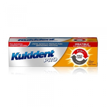Kukident Pro Dentaduras Postizas,40gr, Doble Accion.