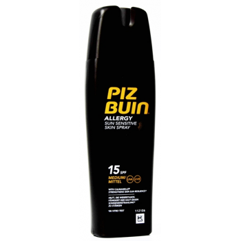Piz buin allergy locion protector solar spf15, spray 200ml.