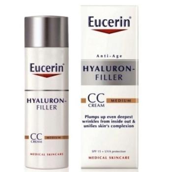 Eucerin hyaluron filler CC cream tono Medio, 50ml+REGALO