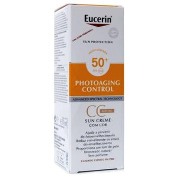 Eucerin Solar Photoaging Control Crema CC Tono Medio Spf50+, 50ml.