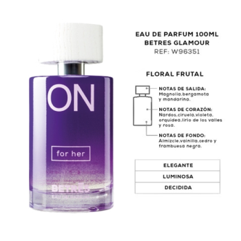 Betres On 100 ml, Glamour For Her Eau de Parfum.