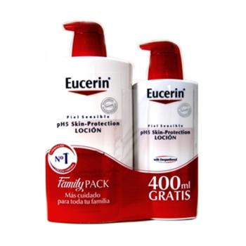 Eucerin Locion Hidratante Family Pack,1000 ml+400ml. Gratis.