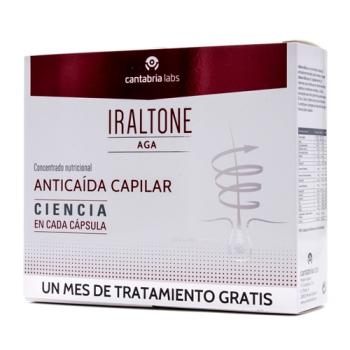 Iraltone AGA Anticaida Capilar; 60capsulas Duplo.
