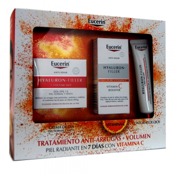 Cofre de Eucerin Tratamiento Antiarrugas + Volumen con Vitamina C Piel Mixta.