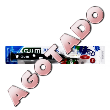 GUM  cepillo dental Junior  7-9 años NEGRO