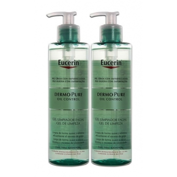 Eucerin DermoPure Oil Control, 400 ml, Gel Limpiador Facial.- pack 2un.