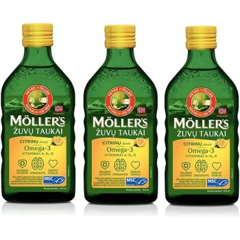 Mollers aceite de hígado de bacalao  Omega3  250ml.- PACK 3UN.