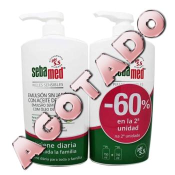Sebamed Emulsion Sin Jabon con Aceite de Oliva 750ml.- PACK 2UN.