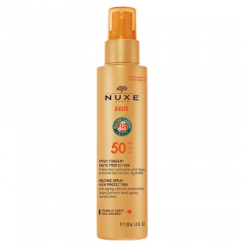 Nuxe sun leche Rostro y Cuerpo, SPF50, spray 150ml.