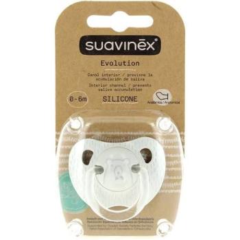 Suavinex Chupete Evolution Silicona de 0-6 meses.Colores Variados.