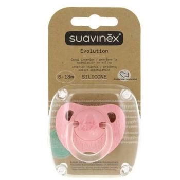 Suavinex Chupete Evolution Silicona de 6-18 meses.Colores Variados.