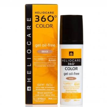 Heliocare 360º (Spf50+) 50 ml, Protector Solar Gel Oil-Free Color Beige .