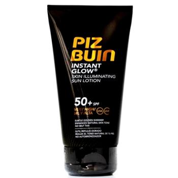 Piz buin instan glow solar spf50+, loción 150ml